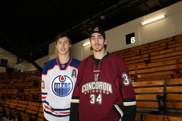 Brothers Ryan and Adam Nugent-Hopkins. Both played several sports while growing up, yet both have excelled at hockey. (Photo, David S. Landsman