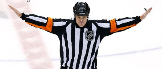 referee no goal sign nhl hockey